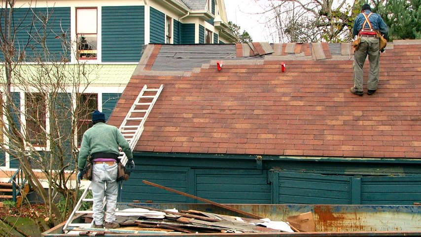 Dismantling The Old Roofs