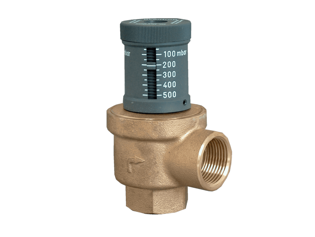 Proper relief valve operation and drain access